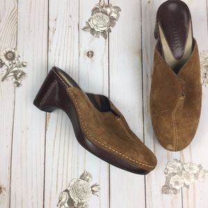 Cole Haan Country Brown Heeled Clogs